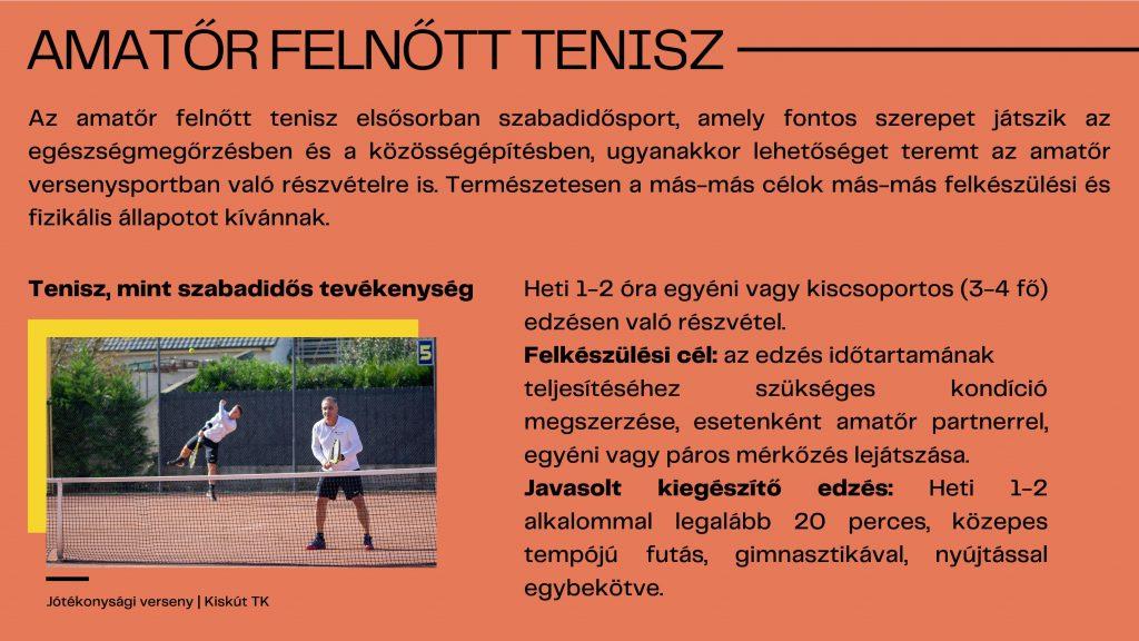 klinikai ajánlások a gyermekkori teniszhez